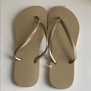 Champagne Havaianas Sandals 37-38
